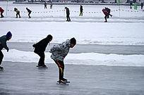 冬季户外滑冰