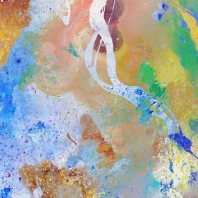 现代抽象画 抽象花型 底纹