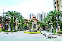 福州融信大卫城广场园林景观摄影