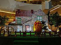 商场里的羊年雕塑造型