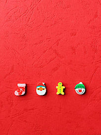 新年快乐卡通人物橡皮擦