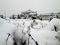 美丽的王府雪景
