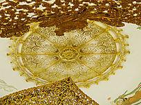 天花圆形装饰纹样