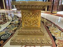 铜花纹装饰
