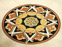中式大理石圆形装饰纹样