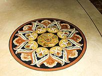 中式大理石装饰纹样圆形