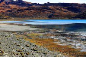 羊卓雍措湖湖岸线