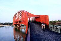 红色桥公园艺术钢结构桥