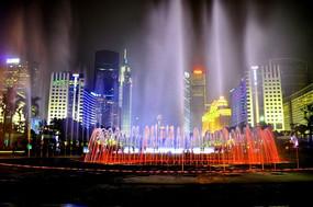 夜色中的繁华都市