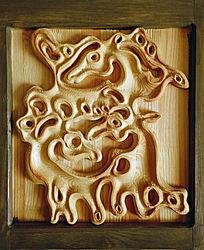 蒙古大帐木雕
