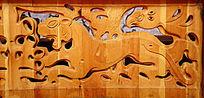 蒙古族风格的木雕