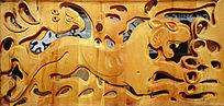蒙古族风格的木刻