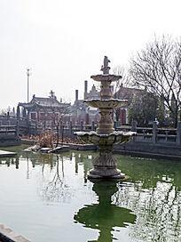 喷泉水景三层