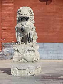 威武的公石狮子