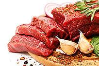 鲜肉牛肉辣椒腌肉大蒜组合