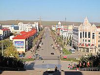 漠河县街景