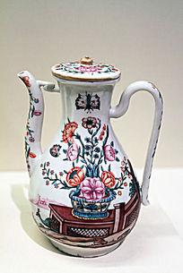 荷兰加彩绘盖壶