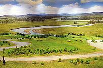 额尔古纳河畔古人类生活场景