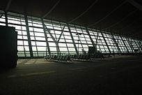 上海浦东机场钢结构大玻璃窗
