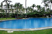 酒店园林游泳池