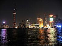 上海黄浦江璀璨的夜色