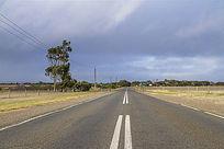 阿德莱德袋鼠岛农场旁的公路