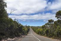 澳洲袋鼠岛美丽的道路