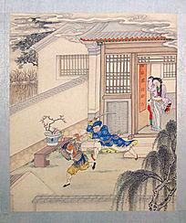 古代绘画《聊斋图说》之《回家招祸》