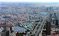 鸟瞰上海建筑群