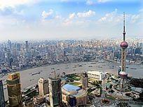 上海 俯瞰黄浦江