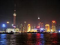 上海黄浦江夜色