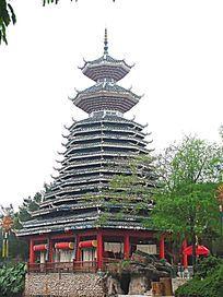 深圳民俗文化村 侗族山寨鼓楼
