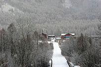 大山人家雪景
