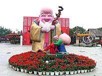 深圳民俗文化村 寿星雕塑
