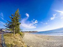 澳洲袋鼠岛的海边沙滩