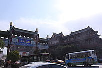 古典街道大门和古典建筑