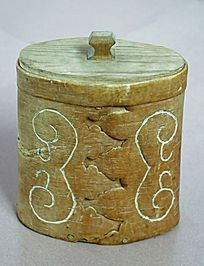 桦树皮储物盒装饰图案