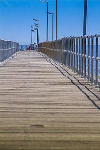 澳洲港口码头木桥桥面