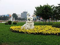 包头银河广场雕塑