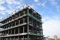 建造中的钢结构楼