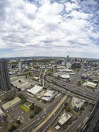 墨尔本的高架立交桥