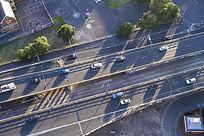 墨尔本的交通道路高架桥