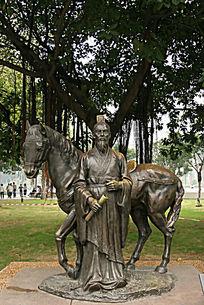 广州陈家祠广场雕塑《筑泥城》