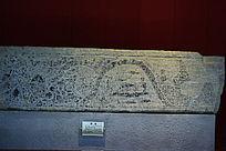 汉代捕鱼全景图石雕
