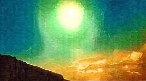 阳光风景装饰画