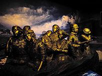抗日英雄群雕