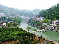 俯拍湖南湘西凤凰古城