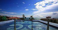 滨海洋房别墅海景露天游泳池