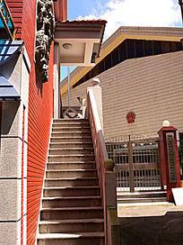 鼓浪屿小楼的户外楼梯