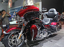 豪华红色摩托车